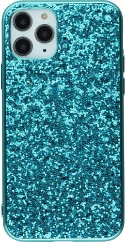 Coque iPhone 11 - Paillettes bleu