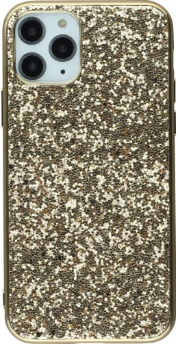 Coque iPhone 11 Pro Max - Paillettes or
