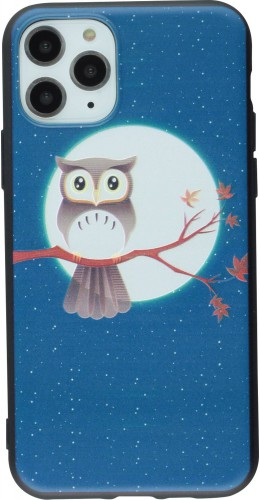 Coque iPhone 11 Pro - Print Hibou Lune