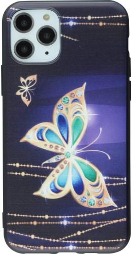 Coque iPhone 11 Pro - Print Papillon doré