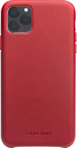 Coque iPhone 11 Pro - Qialino cuir véritable rouge