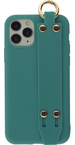 Coque iPhone 11 Pro - Silicone Mat Strap bleu
