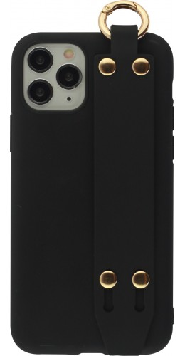 Coque iPhone 11 Pro - Silicone Mat Strap noir