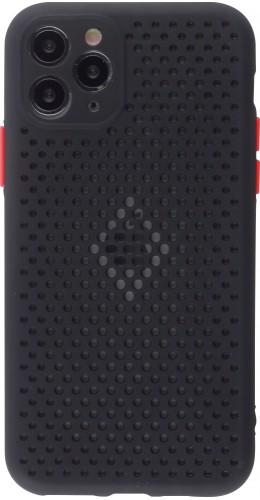Coque iPhone 11 Pro - Silicone Mat avec trous noir