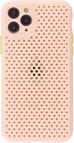 Coque iPhone 11 Pro - Silicone Mat avec trous rose