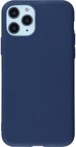 Coque iPhone 11 Pro Max - Silicone Mat bleu foncé