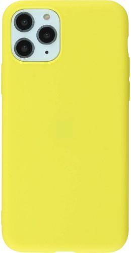 Coque iPhone 11 Pro - Silicone Mat jaune