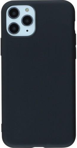 Coque iPhone 11 Pro Max - Silicone Mat noir