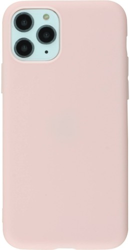 Coque iPhone 11 Pro - Silicone Mat rose clair