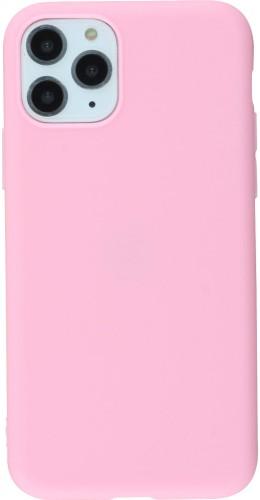 Coque iPhone 11 Pro - Silicone Mat rose foncé