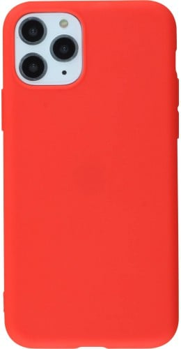 Coque iPhone 11 Pro Max - Silicone Mat rouge