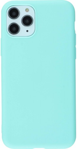 Coque iPhone 11 Pro - Silicone Mat turquoise