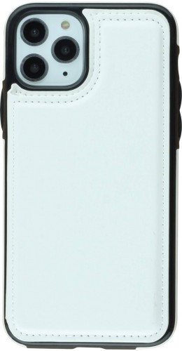 Coque iPhone 11 Pro - Wallet Premium Cards blanc