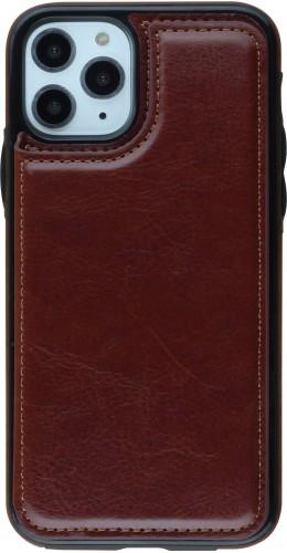 Coque iPhone 11 Pro - Wallet Premium Cards brun