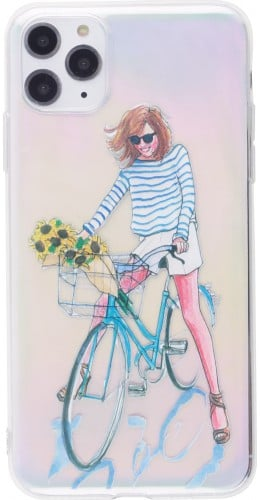 Coque iPhone 12 Pro Max - Woman bicycle