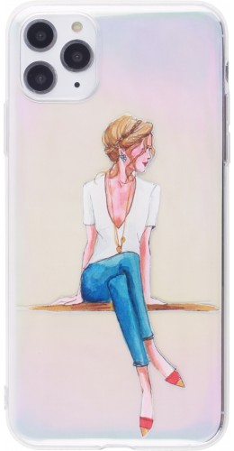 Coque iPhone 12 Pro Max - Woman seated