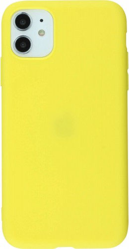 Coque iPhone 11 - Silicone Mat jaune