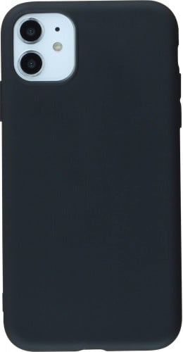 Coque iPhone 11 - Silicone Mat noir