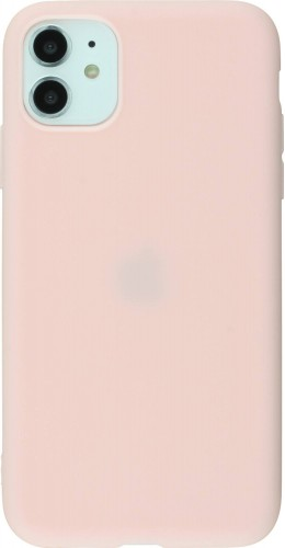 Coque iPhone 11 - Silicone Mat rose clair