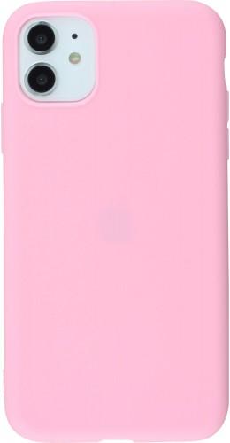Coque iPhone 11 - Silicone Mat rose foncé