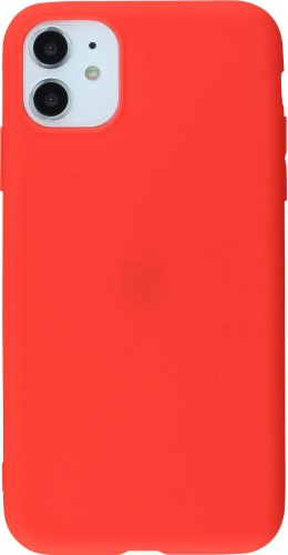 Coque iPhone 11 - Silicone Mat rouge