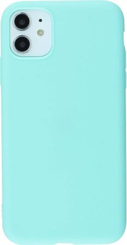 Coque iPhone 11 - Silicone Mat turquoise