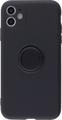 Coque iPhone 11 - Soft Touch avec anneau noir