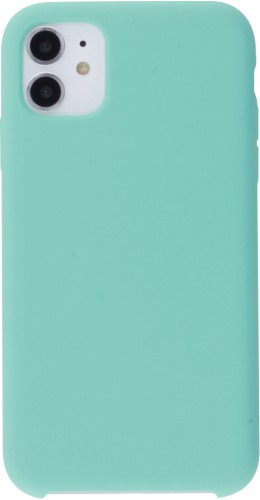Coque iPhone 11 - Soft Touch turquoise