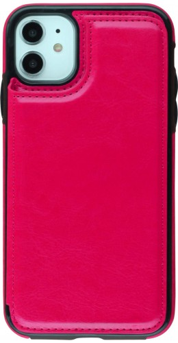 Coque iPhone 11 - Wallet Premium Cards rose foncé