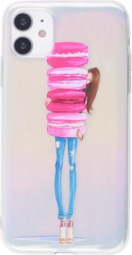 Coque iPhone 12 mini - Woman macaron