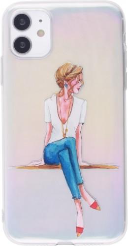 Coque iPhone 12 mini - Woman seated