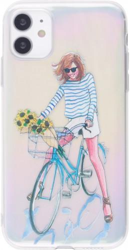 Coque iPhone 12 mini - Woman bicycle