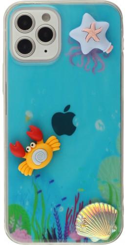 Coque iPhone 12 / 12 Pro - 3D Océan crabe étoile