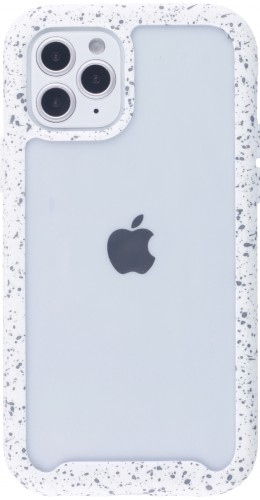 Coque iPhone 12 mini - Bumper 360 Clear Splash paint blanc