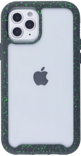 Coque iPhone 12 mini - Bumper 360 Clear Splash paint noir