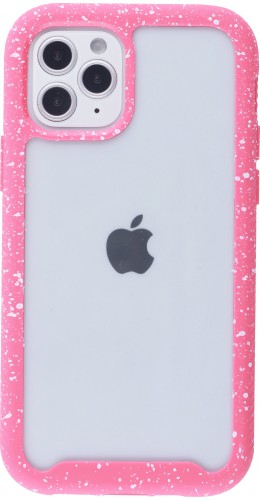 Coque iPhone 12 mini - Bumper 360 Clear Splash paint rose