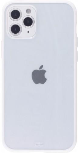 Coque iPhone 12 / 12 Pro - Bumper Blur blanc