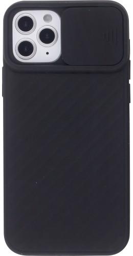 Coque iPhone 12 / 12 Pro - Caméra Clapet noir