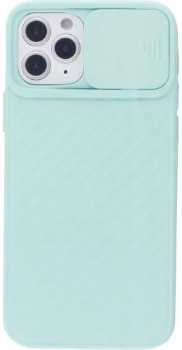 Coque iPhone 12 / 12 Pro - Caméra Clapet turquoise