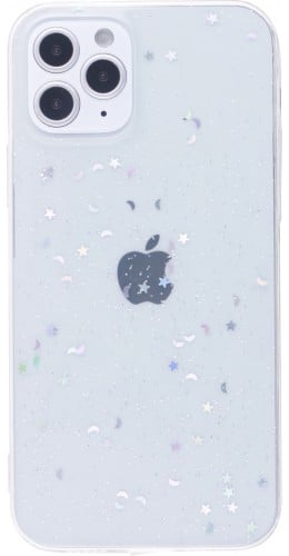 Coque iPhone 12 / 12 Pro - Clear Bubble Stars transparent
