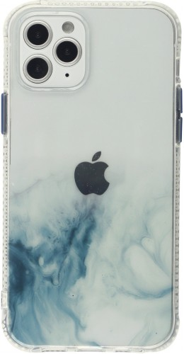 Coque iPhone 12 / 12 Pro - Clear Bumper gradient paint bleu clair