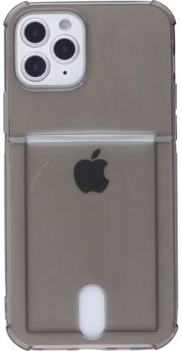 Coque iPhone 11 - Gel Bumper Porte-carte noir