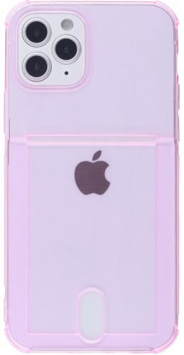 Coque iPhone 11 - Gel Bumper Porte-carte rose