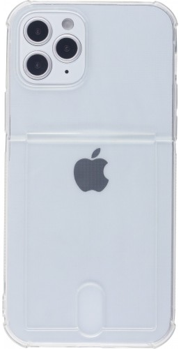 Coque iPhone 11 - Gel Bumper Porte-carte transparent