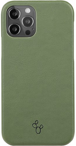 Coque iPhone 12 / 12 Pro - NOPAAL cuir de cactus vegan vert pampa