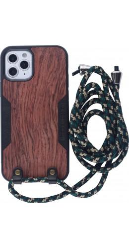 Coque iPhone 12 mini - Wooden Design acacia
