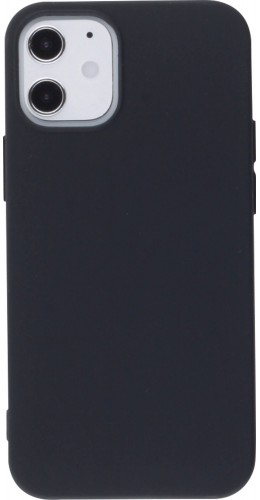 Coque iPhone 12 mini - Silicone Mat noir