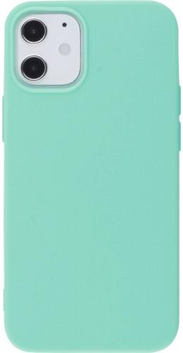 Coque iPhone 12 mini - Silicone Mat turquoise