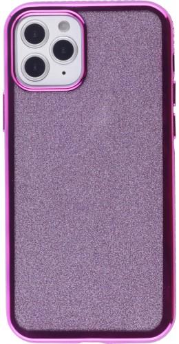 Coque iPhone 12 Pro Max - Bumper Diamond strass violet