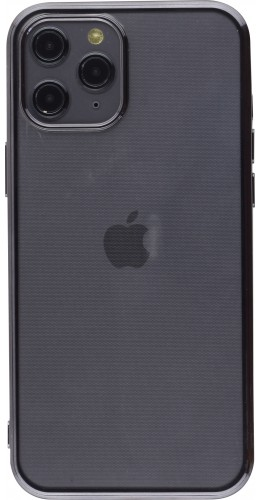 Coque iPhone 12 Pro Max - Electroplate noir